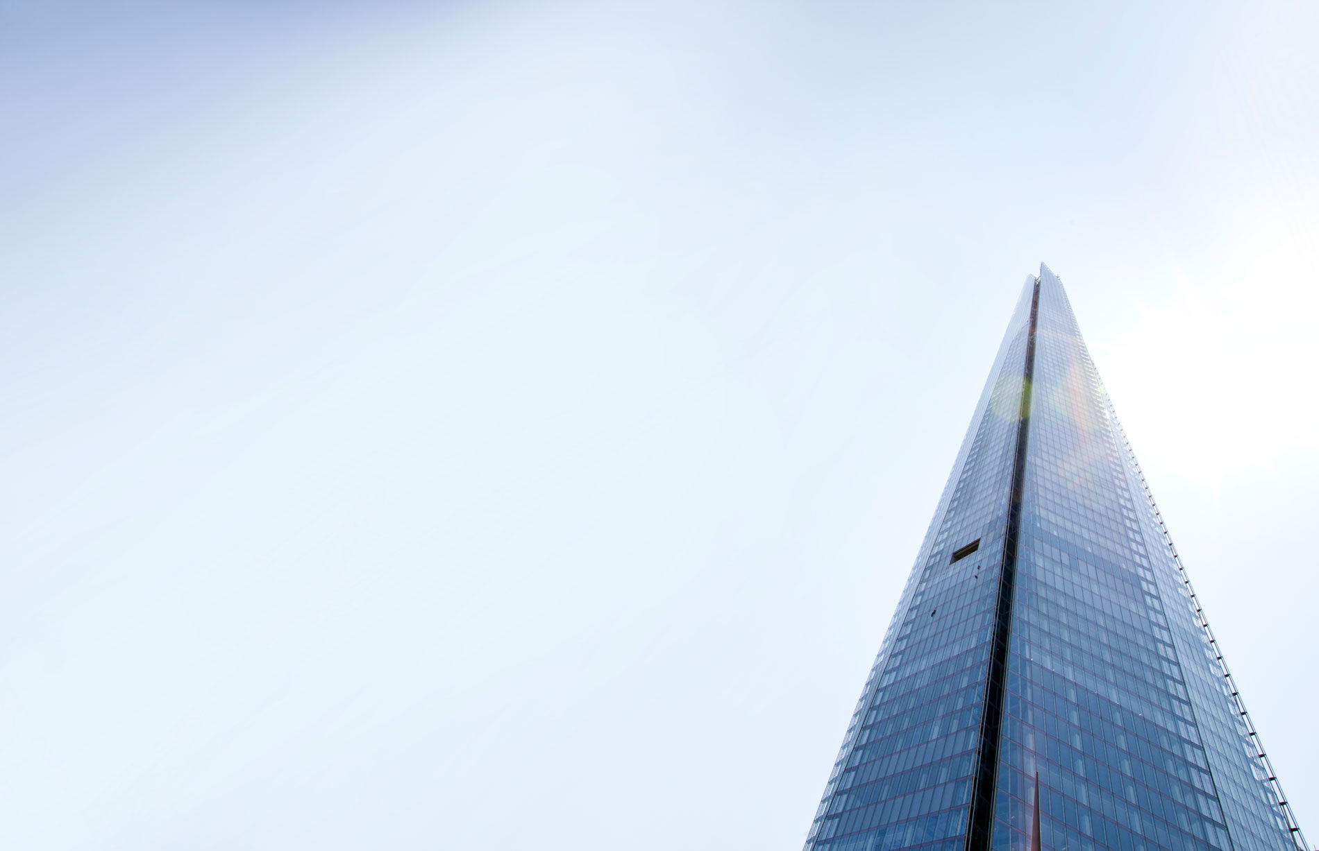 Close-up view of the shard